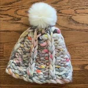 Anthropologie wool Pom beanie hat